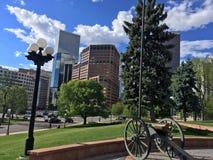 Denver do centro fora da construção do capital fotografia de stock royalty free