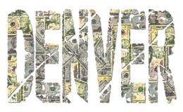 denver dolarów grunge tekst ilustracja wektor