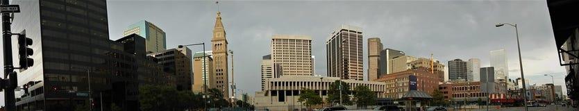 Denver Downtown Panorama arkivfoton