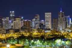 Denver downtown panorama, Colorado Royalty Free Stock Photos