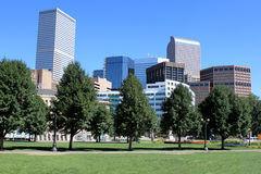 Denver downtown view Stock Image