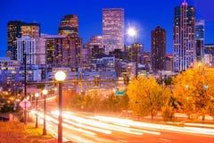 Denver Evening Traffic Immagini Stock Libere da Diritti