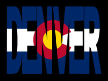 Denver flagi colorado ilustracji