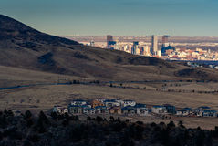 Denver From The Foothills Royaltyfria Foton