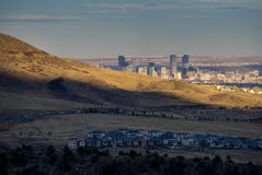Denver From The Foothills royaltyfri bild