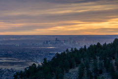 Denver From The Foothills Fotografering för Bildbyråer
