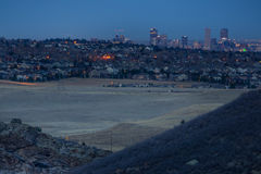 Denver From The Foothills Royaltyfria Bilder
