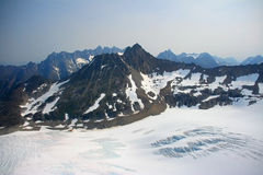 Denver Glacier, aerial view royalty free stock photos