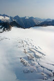 Denver Glacier, aerial view Royalty Free Stock Images