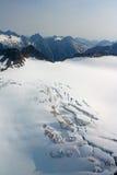 Denver-Gletscher, Luftaufnahme Lizenzfreie Stockbilder