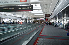 Denver international airport interior stock photography
