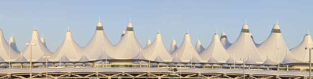 Denver International Airport Panorama Royalty Free Stock Image