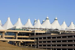 Denver International Airport Peaks and Parking Gar Stock Images