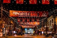 Denver Larimer Square NFL United in Orange Royalty Free Stock Images