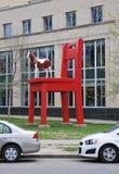 DENVER, LE COLORADO, ETATS-UNIS - 19 MAI 2013 : La bête d'un an par l'artiste Daniel Lipski, sculpture chez Denver Art Museum photographie stock libre de droits