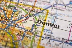 Denver, le Colorado sur la carte photo libre de droits
