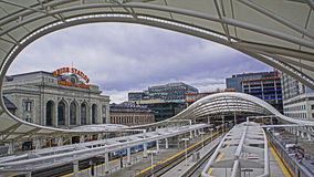 Denver light rail Royalty Free Stock Photo