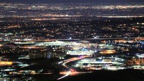 Denver Metro Area Timelapse na noite video estoque