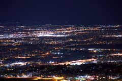 Denver Metro Night Panorama Foto de archivo