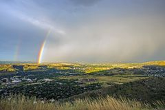 Denver Metro Rainbow Fotografia Stock