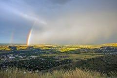 Denver Metro Rainbow Stock Photography
