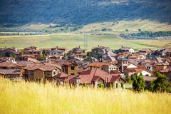 Denver Metro Residential Area Royalty Free Stock Image