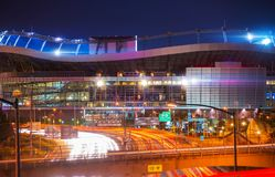 Denver Mile High Stadium Fotografia Stock Libera da Diritti