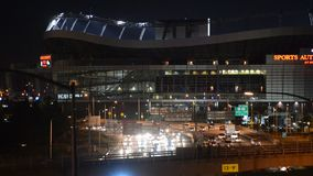 Denver Mile High Stadium, Colorado, United States. Stadium and Interstate I-25 Highway.n stock video