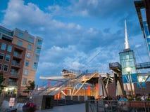 Denver Millennium Bridge Photographie stock