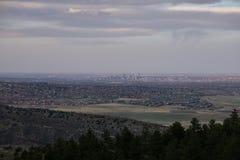 Denver From Morrison, Colorado Stock Foto