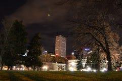 Denver nachts Stockfoto