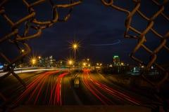 Denver nachts Stockfotografie