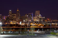 Denver at night Stock Photography
