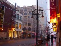 Denver Night Scenes van de binnenstad Royalty-vrije Stock Fotografie
