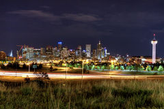 Denver night skyline Royalty Free Stock Images