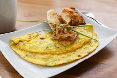 Denver omelet with fried onion Stock Images