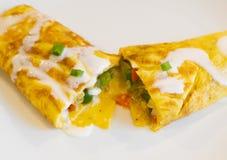 Denver Omelette com fresco de Queso fotos de stock