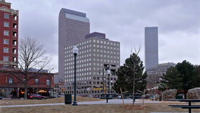 Denver Pan en invierno almacen de metraje de vídeo