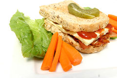 Denver Sandwich. Served on a plate Stock Photo