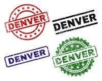 DENVER Seal Stamps texturisé grunge Illustration Stock