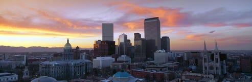 Denver-Skyline Lizenzfreies Stockfoto
