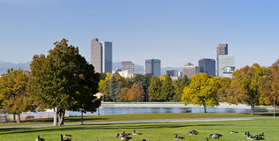 Denver Skyline in Autumn Royalty Free Stock Images