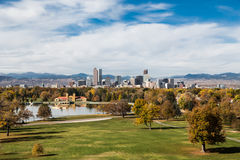 Denver Skyline in Autumn royalty free stock photography