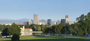 Denver Skyline from City Park Stock Photos