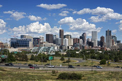 Denver Skyline, Colorado stockfotos