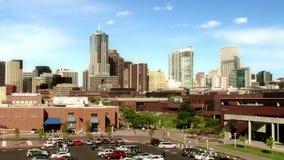 Denver Skyline do terreno de Auraria video estoque