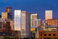 Denver Skyline at Dusk Royalty Free Stock Photo
