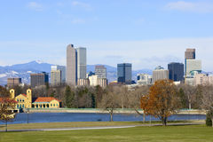 Denver-Skyline-Frühling 2010 Lizenzfreies Stockfoto