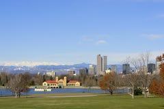 Denver-Skyline-Frühling 2010 Stockfotos