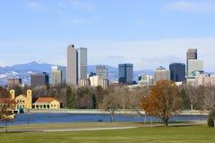 Denver-Skyline-Frühling 2010 Stockbilder